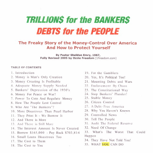 BILLIONS FOR THE BANKERS